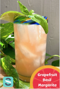 Grapefruit Basil Margarita