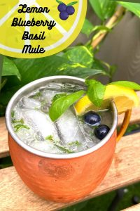 Lemon Blueberry Basil Mule