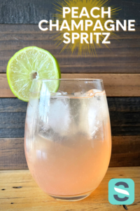 Peach Champagne Spritz